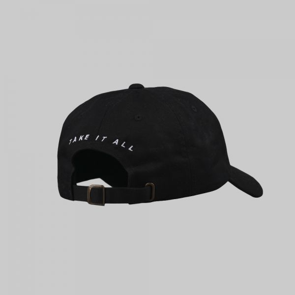 Full Name Logo ★ embroidered black cap