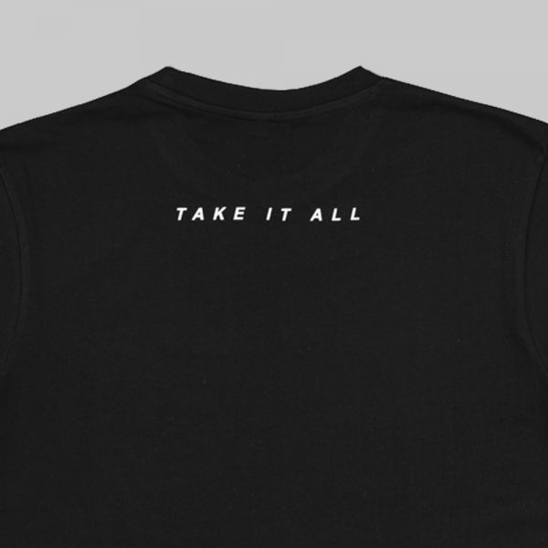 Full Name Logo ★ printed black T shirt