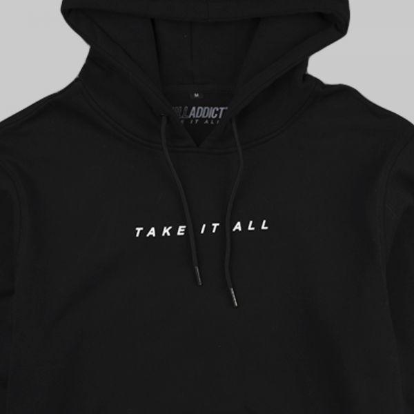 Full Gear Rabbit ★ printed black hoodie