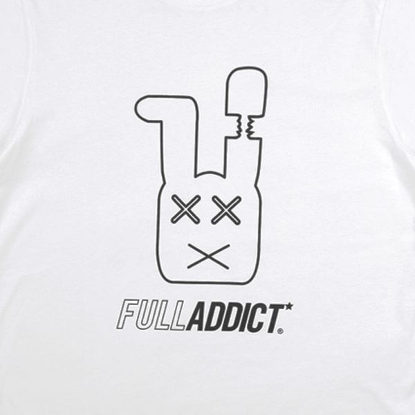 Full Gear Rabbit ★ printed white T shirt