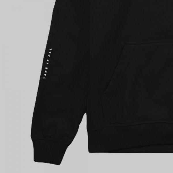 Full On Bear ★ printed black hoodie