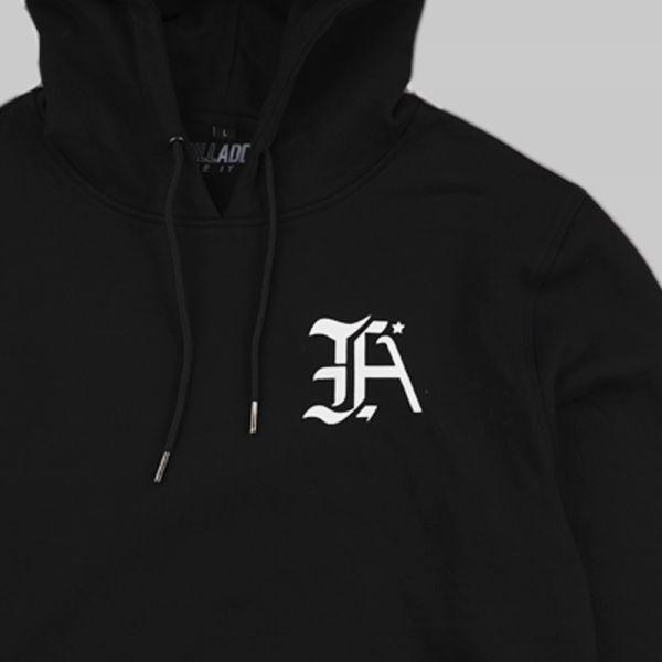 Full Initials Logo ★ printed black hoodie