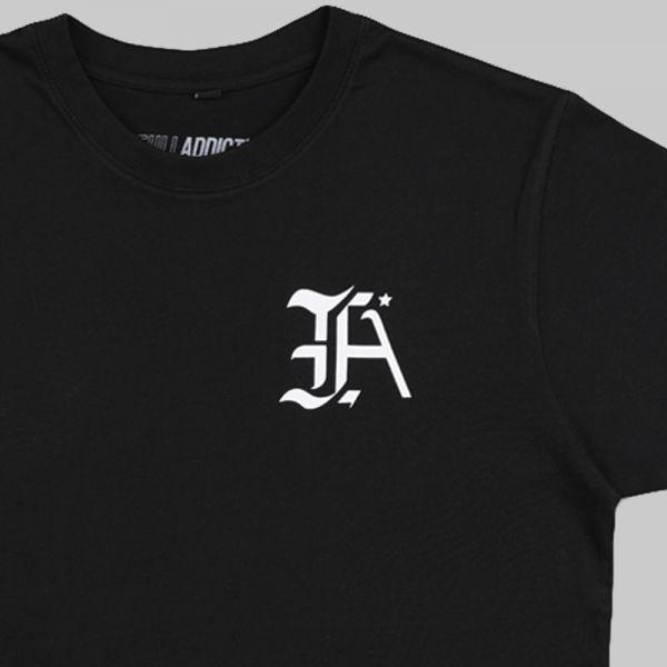Full Initials Logo ★ printed black T shirt
