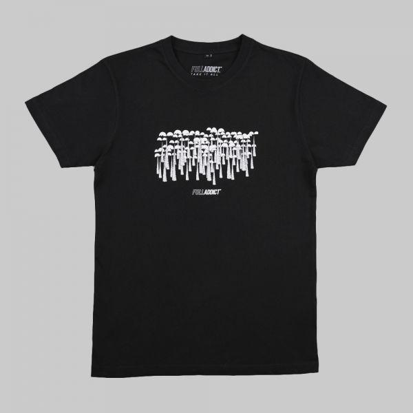 Full Moon Jungle ★ printed black T shirt