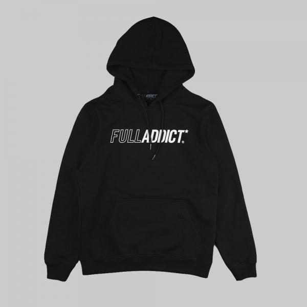 Full Name Logo ★ printed black hoodie